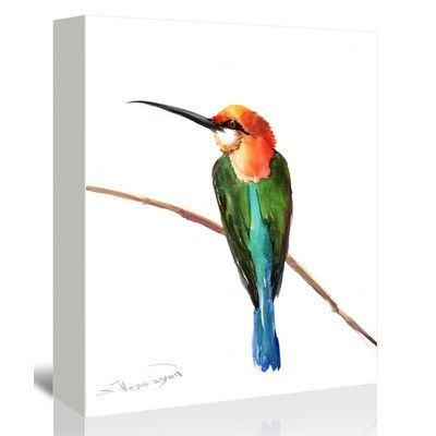 Americanflat Green Bee Eater 3 by Suren Nersisyan Painting Print on Gallery Wrapped Canvas Size: