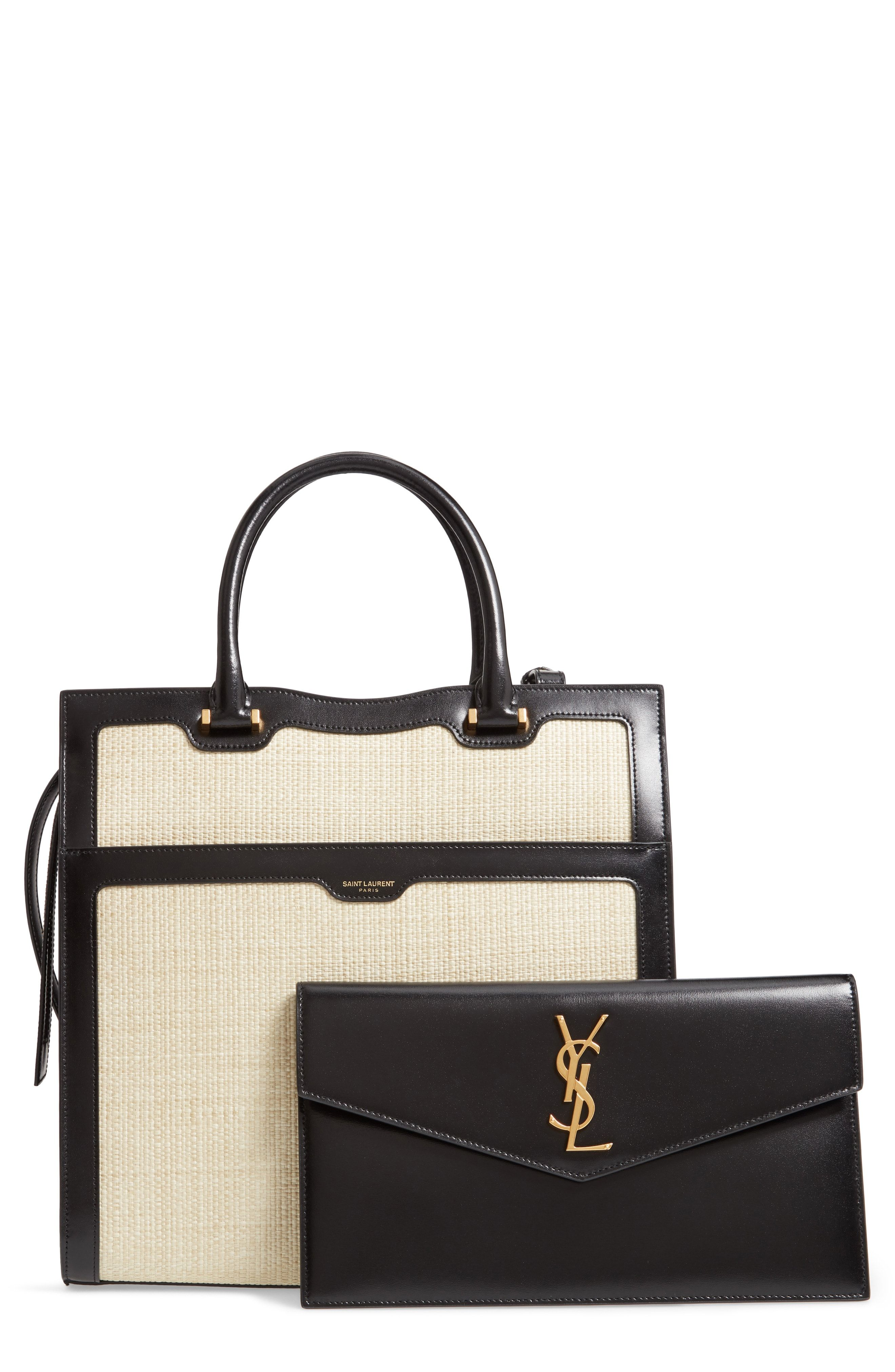 8b049f62e7a Saint Laurent Medium Uptown Cabas Satchel | pretty little things in ...