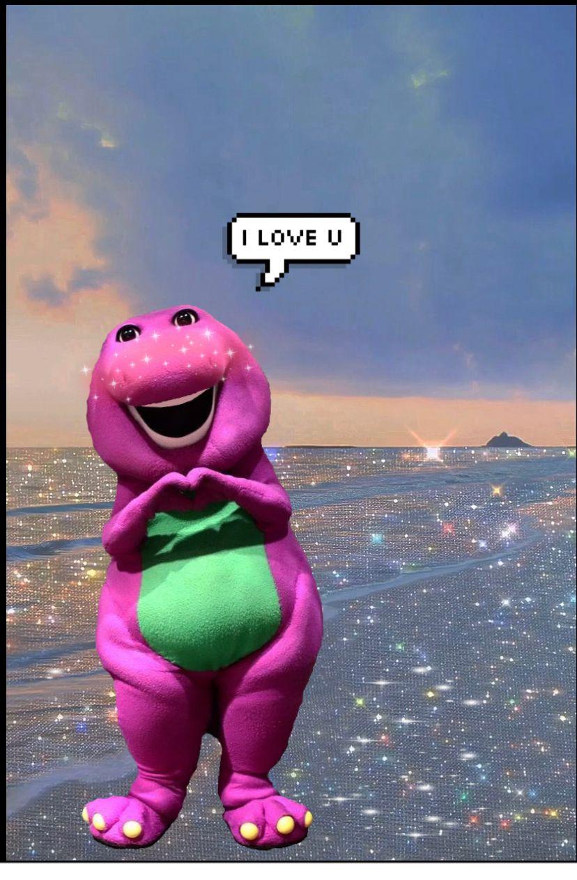Barney I Love You Aesthetic Wallpaper Barney Barney I Love You Wallpaper