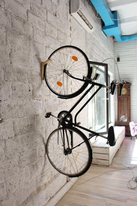 Tokyo Bike Rack Wall Mount Wooden Wall Hook Bike Storage
