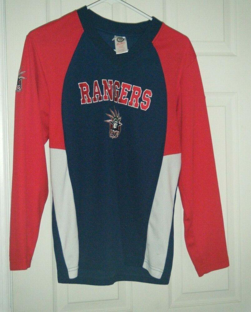 b7af0ee8838 New York Rangers NHL Lady Liberty Alternate Navy Jersey Boys Med 14-16 Used  #