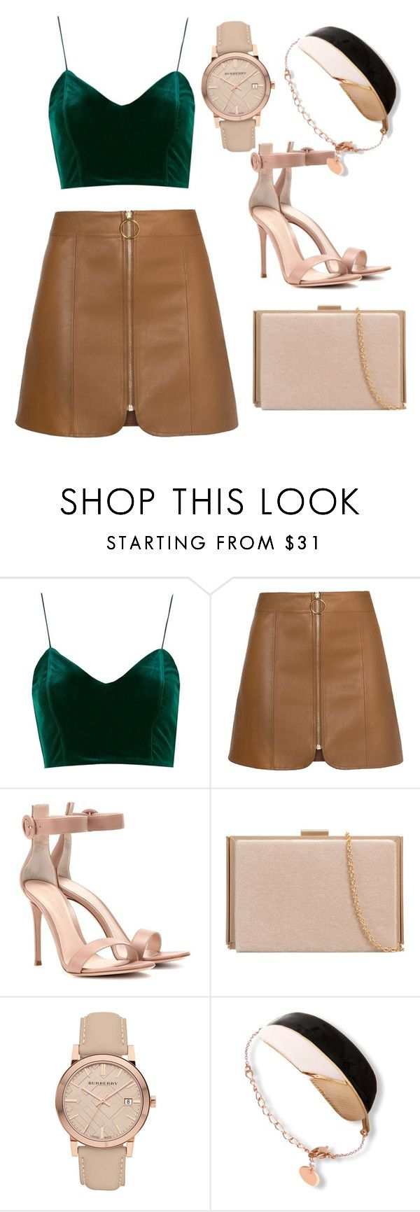 """""""Untitled #202"""" by anjola112 on Polyvore featuring Topshop, Gianvito Rossi and Burberry"""