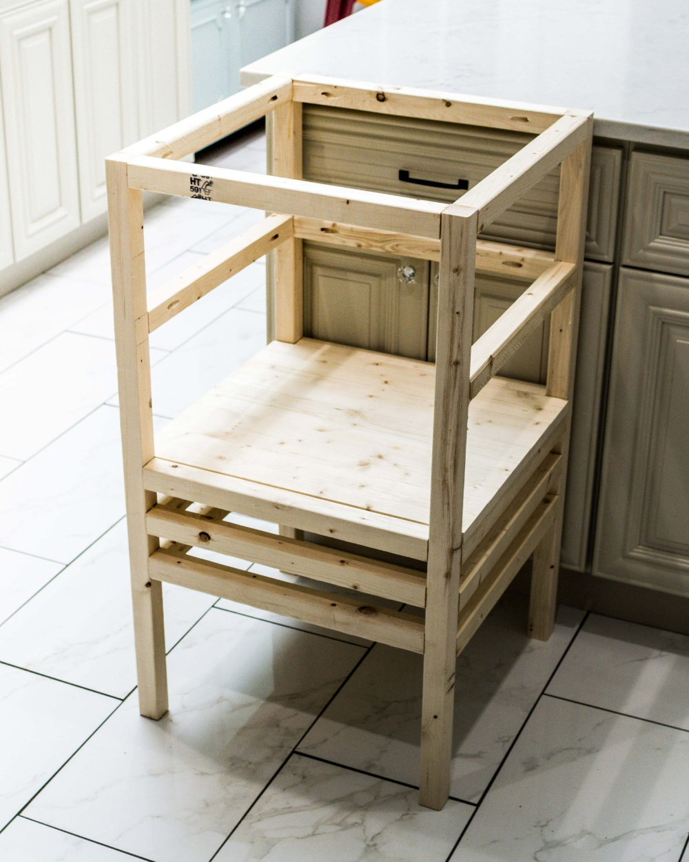 How to Build a DIY Stool Tower Kitchen Helper for Toddlers