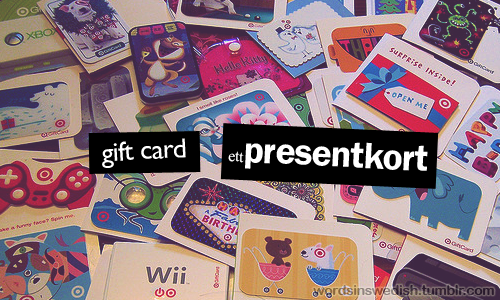Swedish Nouns: presentkort – gift card | swedish | Swedish
