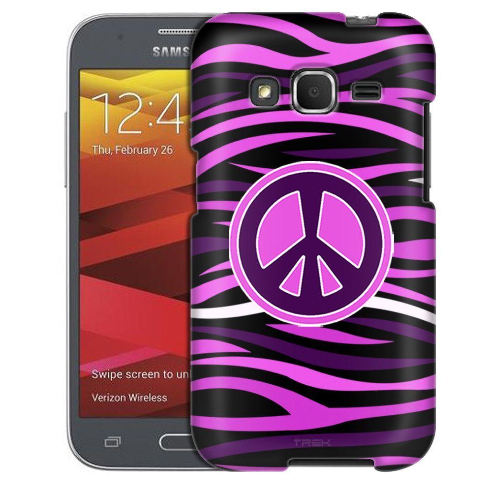 Samsung Galaxy Prevail LTE Peace on Pink Black Zebra Print Case