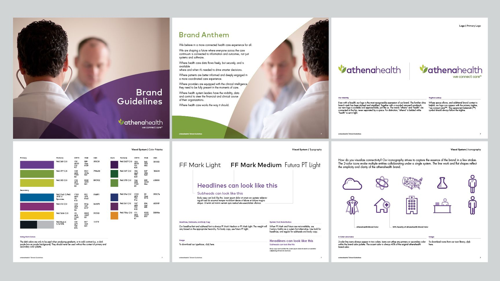 Athenahealth Tank Design Cloud Based Services Brand Guidelines Marketing Collateral