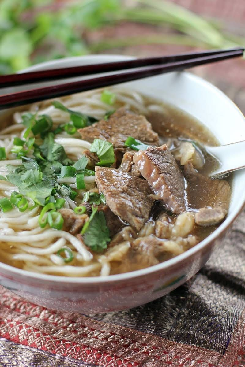 Taiwanese Beef Noodle Soup Recipe Yummly Recipe Beef Noodle Soup Beef And Noodles Taiwanese Cuisine