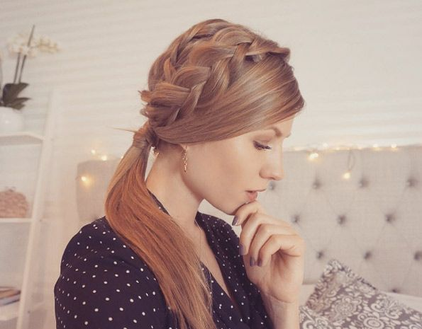 Two Ponytail Hairstyles Endearing 40 Stylish Braided Ponytail Hairstyles  Ponytail Simple Braids And