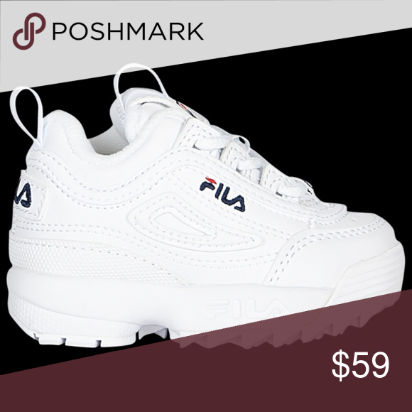 Fila Disruptor II Kids Shoes Size 8 C