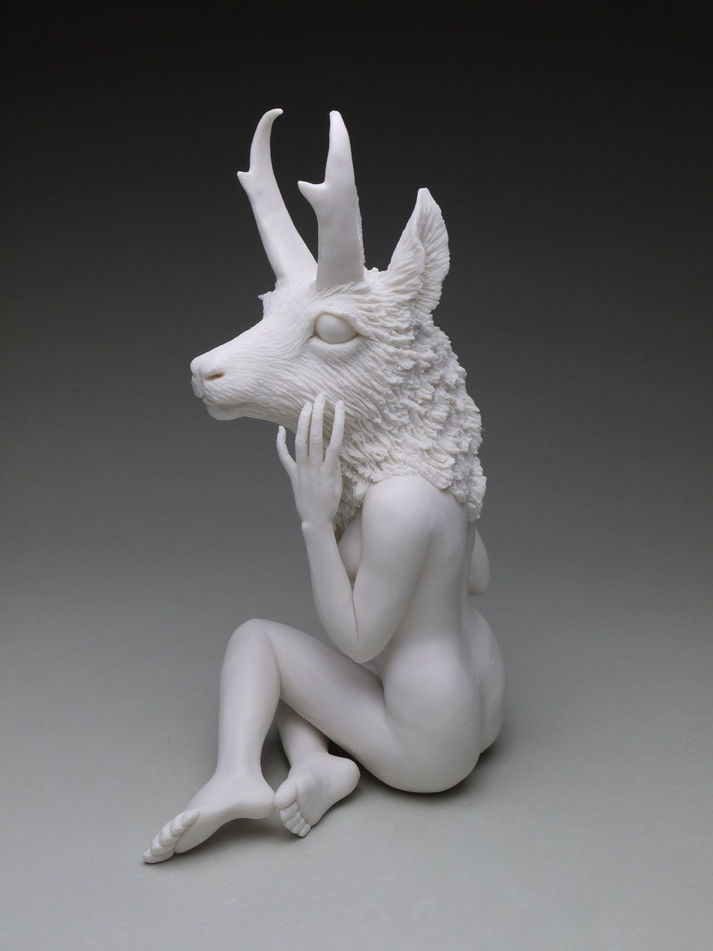 Crystal Morey New Symbiosis Pronghorn In 2020 Sculpture Ceramic Sculpture Crystals