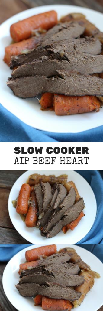 Slow Cooker Beef Heart With Parsnips Carrots Aip Paleo Gluten Free Slow Cooker Beef Food Beef Heart Recipe