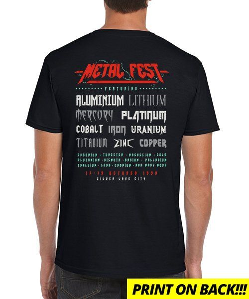 """""""Metal Fest"""" is today's £9/€11/$12 tee for 24 hours only on Pin this for… 