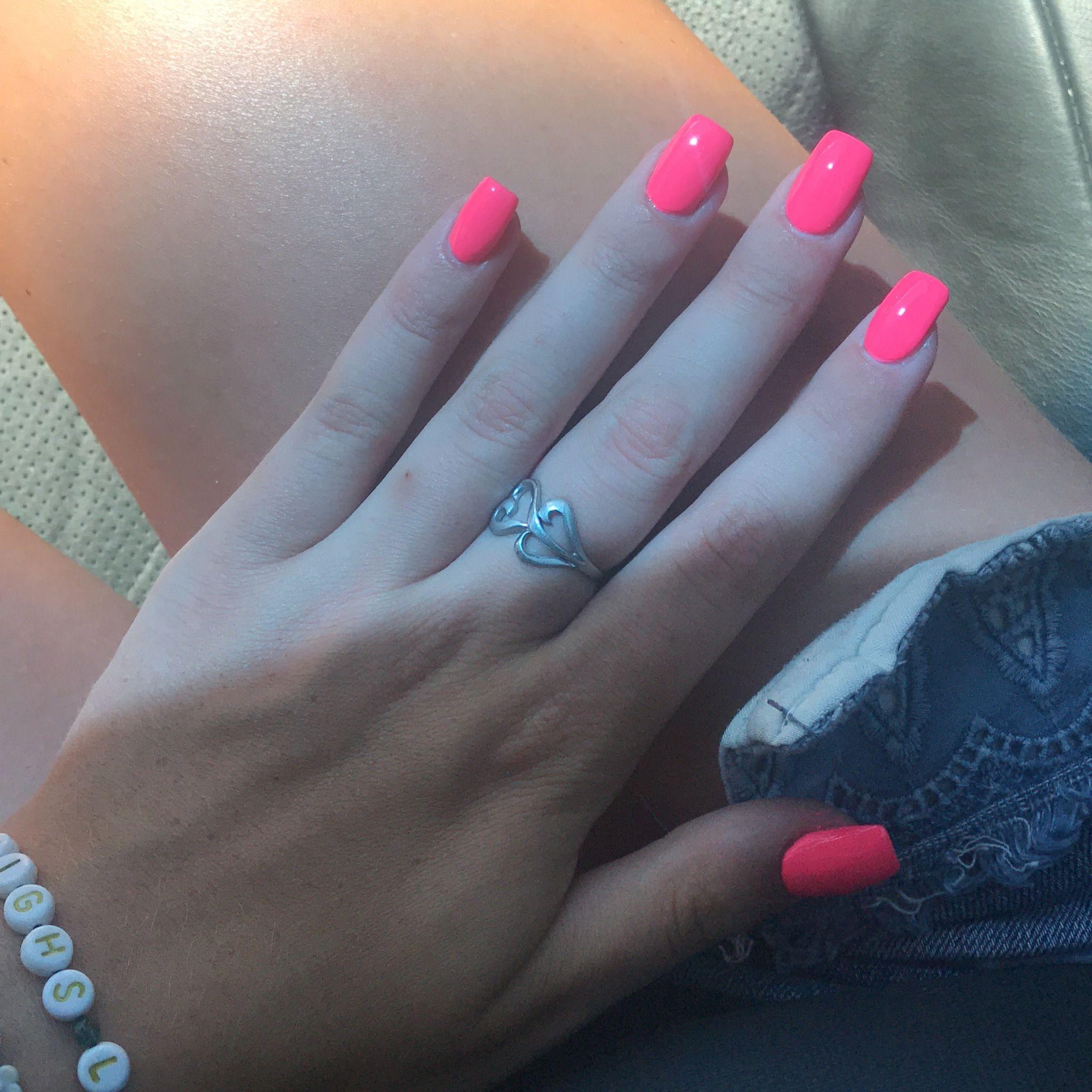 Hot Pink Acrylics Pink Acrylic Nails Hot Pink Acrylic Nails Hot Pink Nails
