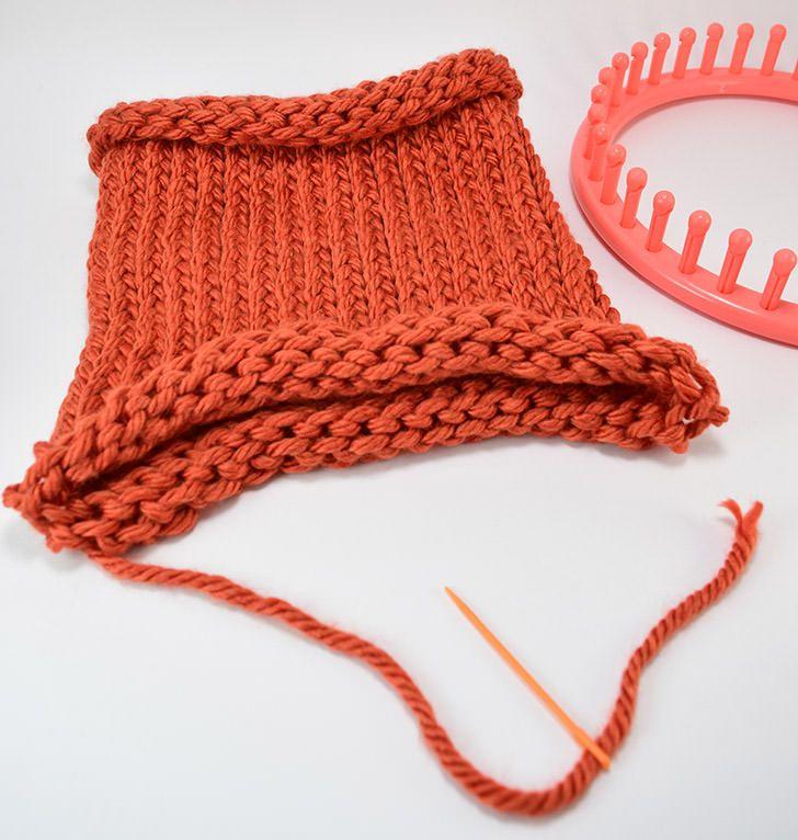 How To Loom Knit A Cap E Wrap Method Loom Knit Loom Knitting