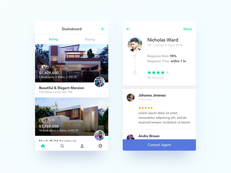 Real Estate App UI Design by Nimasha