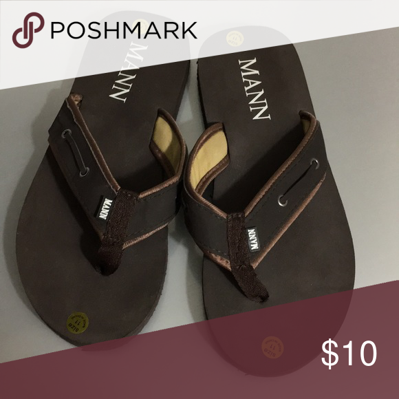 c452dce62ef78f Mann Brown Flip Flops Never Worn brand new! Never worn! MANN Shoes Sandals    Flip-Flops