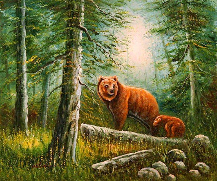 Resultado de imagen de pintura de animales al oleo