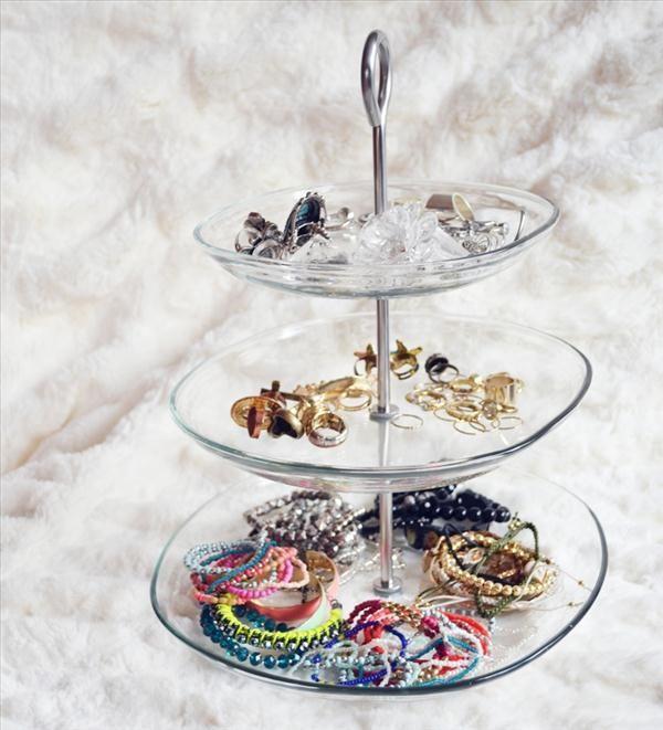 diy jewelry stands diy jewelry storage tips glass tiered stand