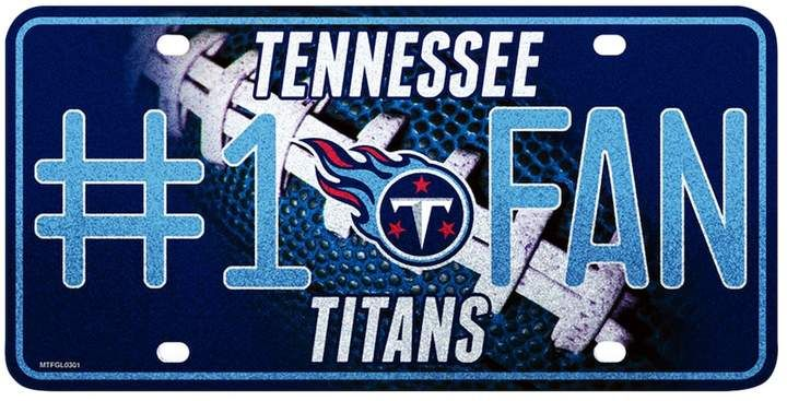 Tennessee Titans 1 Fan Metal License Plate Products Tennessee
