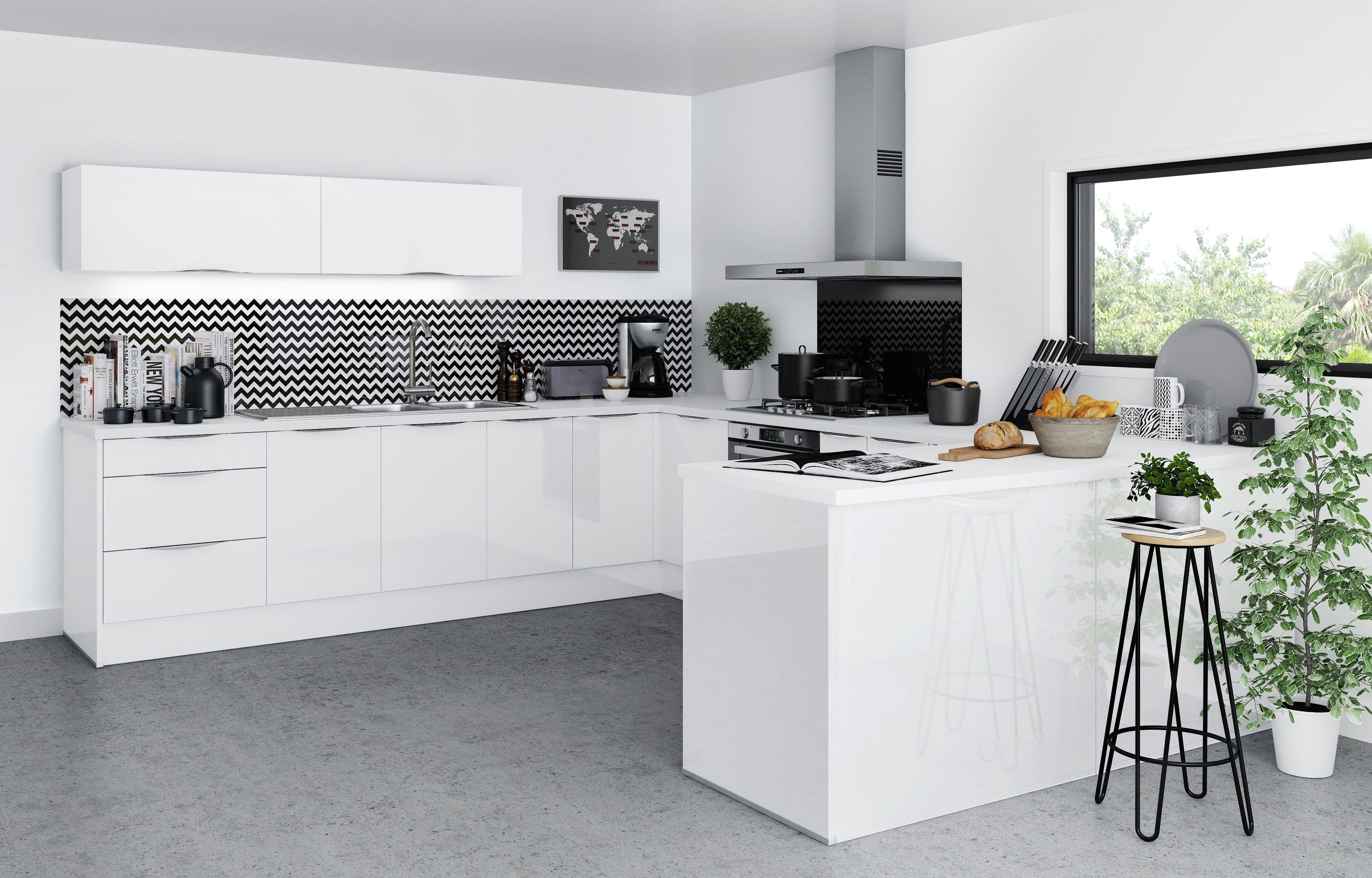 Cuisine Saga Blanc But Moderne Design Laque Kitchen Meuble Cuisine Meubles De Cuisine Noirs Cuisine Moderne
