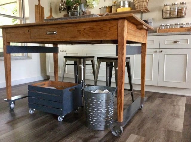 Frugal Ain T Cheap Farmhouse Kitchen Island Diy Home