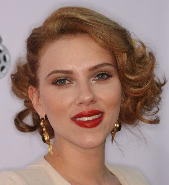 Scarlett Johansson Retro Hairstyles Hair Styles Party Hairstyles
