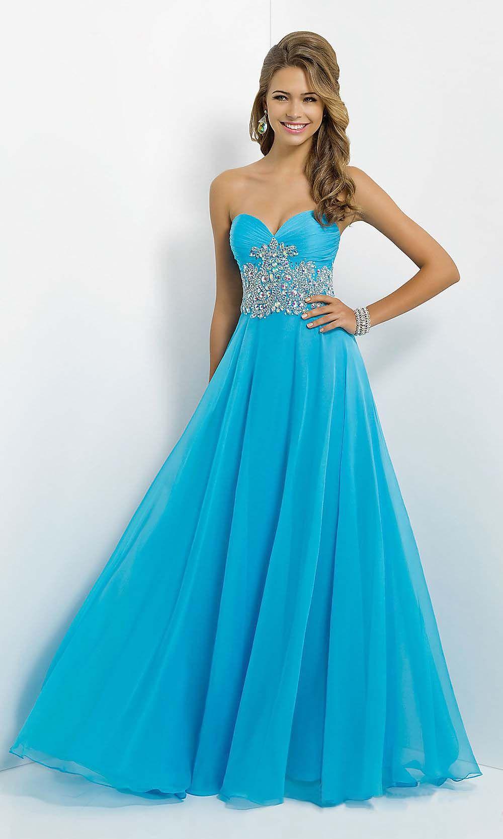 elegant mint long sweetheart chiffon prom dress | Cheap prom ...