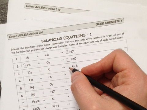 Balancing Equations   Pinterest   Equation  Chemistry and Worksheets Balancing equations worksheet aimed at GCSE and AS chemistry students  together with completed answer sheet