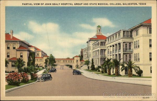 Partial View Of John Sealy Hospital Group And State Medical