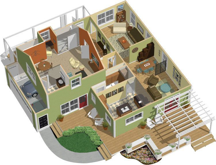 3d Floor Plan Design Home Design Software Free Home Design Denah Rumah Rumah Minimalis Lantai