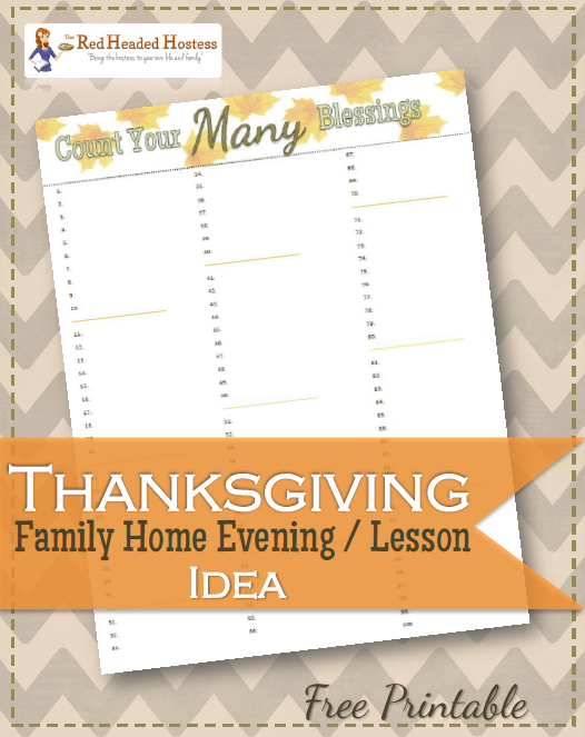 Thanksgiving Family Home Evening Idea | Blessings, Thanksgiving and Easy