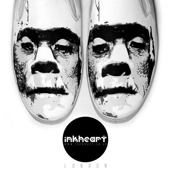Shoes Custom Horror Frankenstein Kicks toms by InkHeartKicks on Etsy