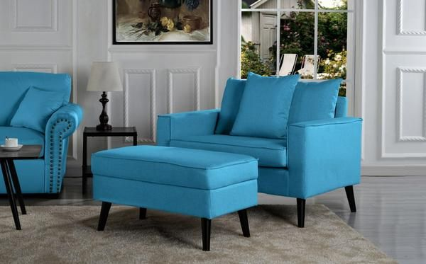 Robertson Modern Accent Chair With Storage Footrest Accent