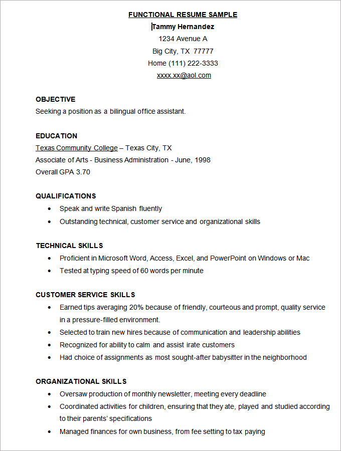Resume Templates Download Free 5 Templates Example Templates Example In 2020 Functional Resume Template Resume Template Free Microsoft Word Resume Template