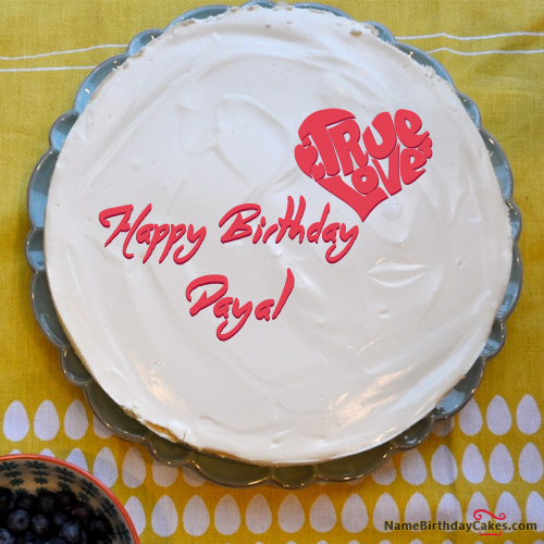 The Name Payal Is Generated On Fabulous Birthday Cake For Lover
