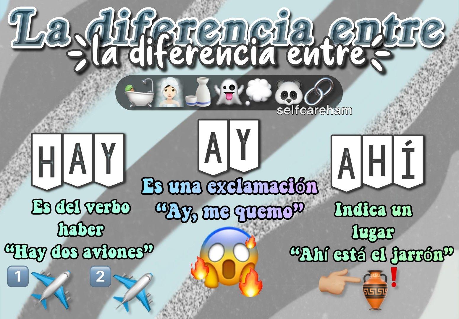 La Diferencia Entre Hay Ay Y Ahí Girls Life Life Follow Me On Instagram