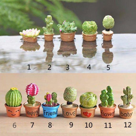 Photo of 1pcs Mini Flower Trees Miniature Plants Garden Decor Fairy Home Houses Decoration Crafts DIY Accesso