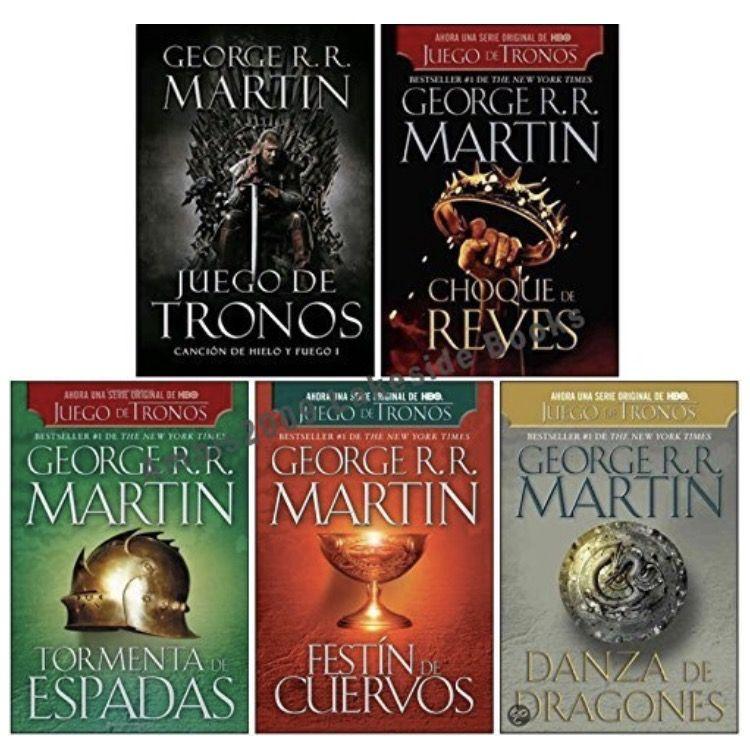 Libros En Espanol Game Of Thrones Set Books Book Cover