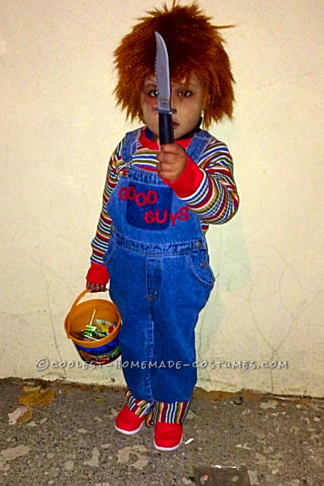 Cool Chucky Homemade Toddler Costume & Cool Chucky Homemade Toddler Costume   Homemade toddler costumes ...