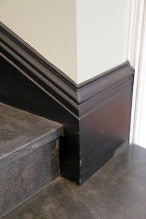 Taller Profile Base Molding Around Stair Corner Baseboards Stairs Trim Stair Moulding