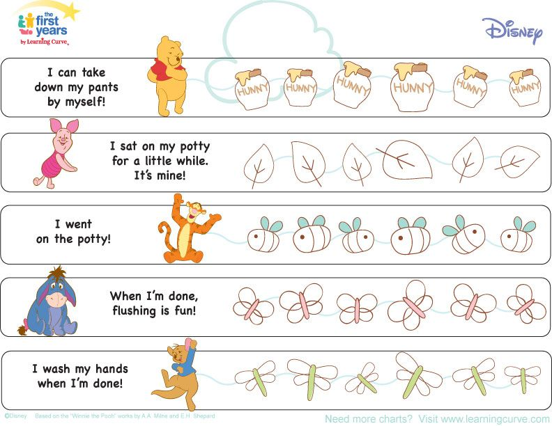 Potty Training Printable Charts And Checklists Crosby Benny Ideas