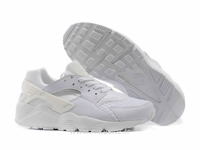 fashion special for shoe multiple colors Nike Air Huarache Tout Blanc - Chaussure Pour Femme Triple ...