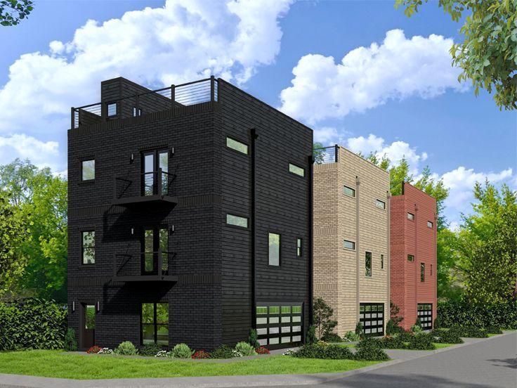 . 062G 0135  Modern 2 Car Garage Apartment Plan with Scenic Mezzanine