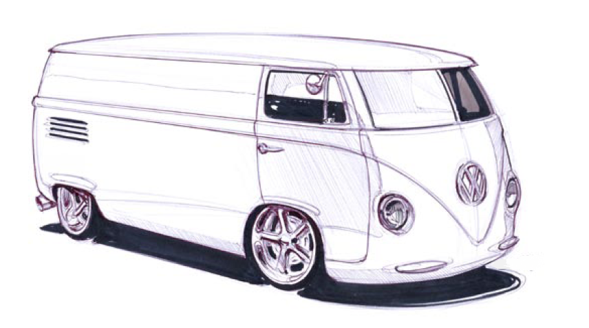 vw van google search car sketches pinterest automobile dessin et noir. Black Bedroom Furniture Sets. Home Design Ideas