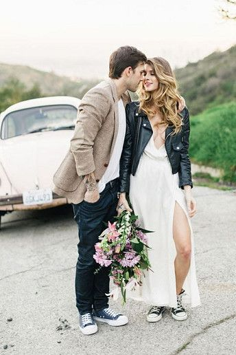 13 Ways To Wear A Leather Jacket On Your Wedding Day Casual