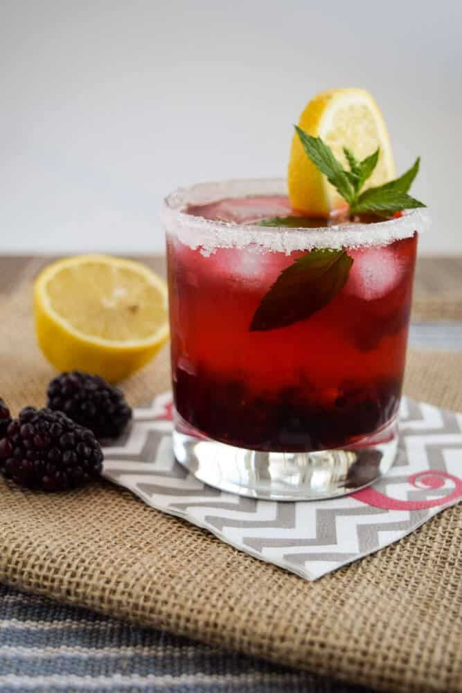 Blackberry Vodka Mojito Try this Easy Blackberry Vodka Mojito at your next party or cocktail hour.  It's sweet, summery and oh so satisfying!