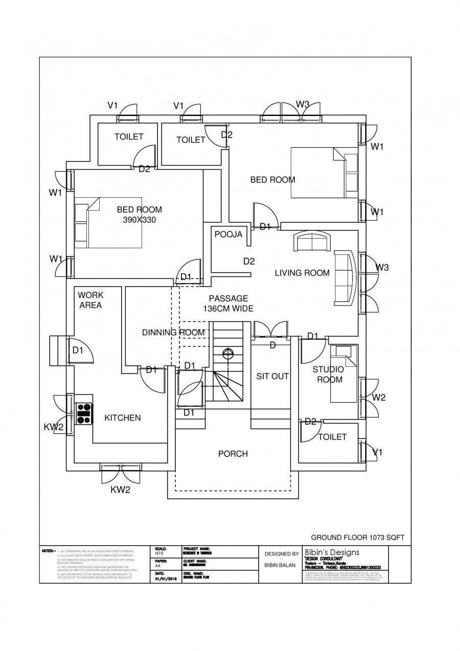 Free Kerala House Plan 1174 Sq Ft 3 Bedroom Modern Home Home Design Floor Plans Kerala House Design Modern House Floor Plans