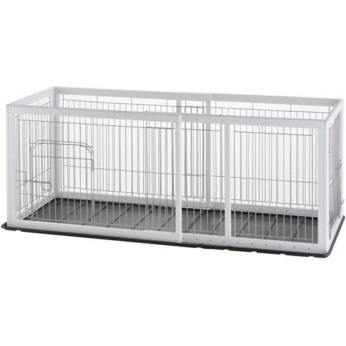 Richell Expandable Pet Pen With Floor Tray Small Puppycratesexpandable Dog Crates Origami White Dog Crate Pets