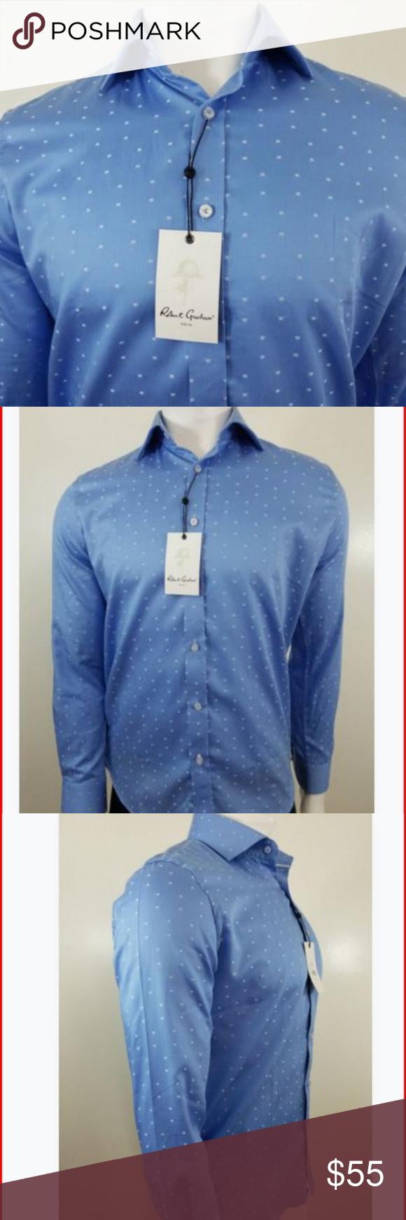 Robert Graham Galway Dress Shirt Long Sleeve Med Nwt My Posh