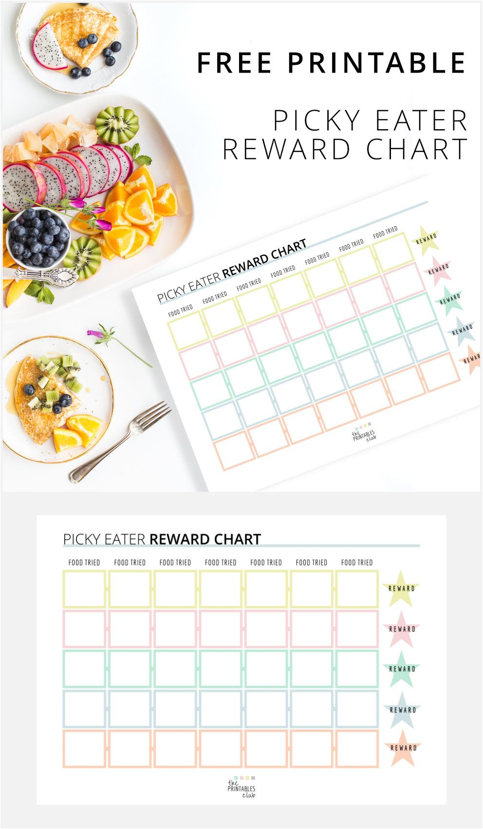 Free Printable Picky Eater Reward Chart The Printables Club Picky Eaters Kids Food Charts Picky Eaters
